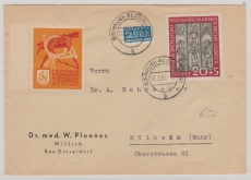Nr.: 140 als EF auf Fernbrief von Willich nach Mülheim