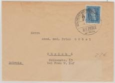Nr.: 147 als EF auf Auslandsbrief von Neustadt nach Zürich (CH)