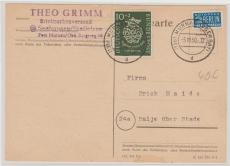 Nr.: 121 als EF auf Fernpostkarte von Murnau nach Balje