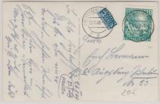 Nr.: 111 als EF auf Fernpostkarte von Homberg nach Augsburg
