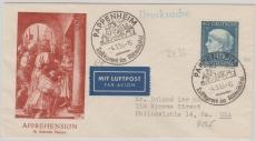 Nr.: 203 als EF auf Lupo- Auslandsbrief von Pappenheim nach Philadelphia (USA)