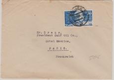 Nr.: 116 als EF auf Auslandsbrief von Bremen nach Paris