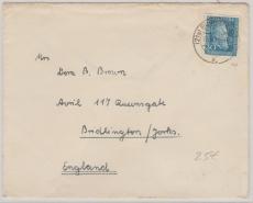 Nr.: 147 als EF auf Auslandsbrief von Burgsteinfurt nach Bridlington (GB)