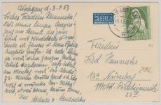 Nr.: 151 als EF auf Fernpostkarte von Cuxhaven nach ... (?)