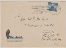 Nr.: 150 als EF auf Auslandsbrief von Augsburg nach Stockholm