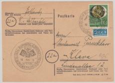 Nr.: 141 als EF auf Fernpostkarte von Wuppertal nach Kleve