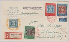 Nr.: 113- 5 als Satz- MiF auf FDC- Fernbrief von München nach Badan-Baden