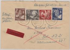 Nrn.: 245, 260 u.a. auf Expres- Fernbrief von Warnemünde nach Berlin, gute Frankatur!