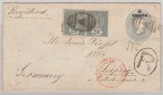 Curacao, 1891 , nette MiF auf GS- E. Brief nach Leipzig
