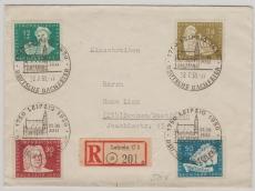 Nrn.: 256- 59, ala Satz- MiF auf Einschreiben- Fernbrief von Leipzig nach Bochum
