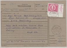 Nr.: 2633, ER mit DV, EF auf Telegramm, von Berlin nach Masserberg
