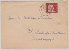 Nr.: 258 als EF auf Fernbrief von Ilfeld- Wiegendorf, nach Karlsruhe