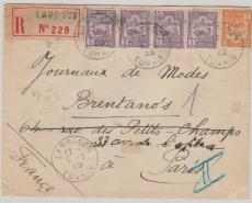 Indochina, 1929, netter MiF E.- Brief von Lang- Son nach Paris