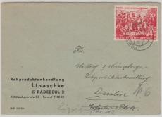 Nr.: 287, als EF auf Fernbrief von Radebeul nach Dresden