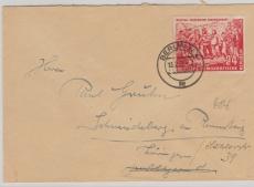 Nrn.: 332 + 333 als MiF, auf Ost- Berliner Rohrpost- Brief!!!  Extrem selten!