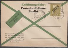 Nr. 17 als EF auf FDC zum Eröffnung des Postschnelldienstes