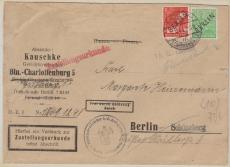 Nrn.: 3+ 16 als MiF auf Brief mit Postzustellurkunde innerhalb Berlin´s