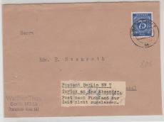 Nr.: 934, als Auslandsbrief, von Berlin NW 7, nach Finnland, mit Aufklebezettel Zurück an den Absender ....