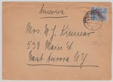 Nr.: 30 als EF, auf Auslandsbrief, von Berlin nach East Aurora (USA)