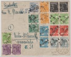 VL.: SBZ 166 /180 (18 Marken!) auf Ortsbrief innerhalb Berlin West! Geprüft Busse BPP!