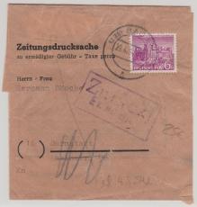 Nr.: 45, als EF auf Zeitungsdrucksache von Berlin nach Darmstadt und zurück! Selten!