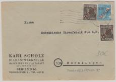 Nrn.: 21 (2x) + 26 als MiF, auf Fernbrief von Berlin nach Nördlingen