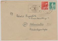 Nrn. 23 + 36 als MiF auf Fernbrief von Berlin nach Holzminden, mit Luftbrückenstempel (dem besseren) tiefstgeprüft Schlegel BPP