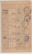 Nr.: 48 als EF auf Seite eines Posteinlieferungsbuches, aus Berlin
