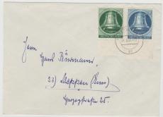 Nrn.: 76 + 78 (je vom UR) als MiF auf Fernbrief von Berlin nach Meppen