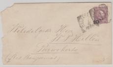 Niederländisch Indien, 1906,  10 Cent Überdruck- GS- Umschlag