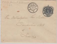 Niederländisch Indien, 1908,  10 Cent- GS- Umschlag, gelaufen