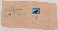 Päckchen, Adressabschnitt, mit Aufkleber Zollfreie Monatsendung + 20 Pfg. AH EF, 10. 1943