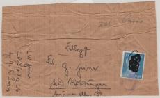Päckchen, Adressabschnitt,  + 20 Pfg. AH EF, mit Stempel bei der Feldpost Eingeliefert, nach Bad Wildungen