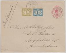 Suriname, 1922, nette MiF auf GS, nach Amsterdam