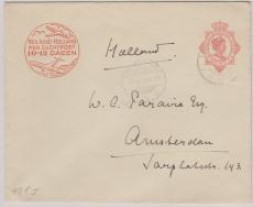 Niederländisch Indien, 1930,  12,5 Cent GS- Umschlag, gelaufen nach Amsterdam