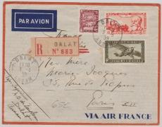 Indochina, 1939, nette MiF auf Lupo- E.- Brief von Dalat nach Paris