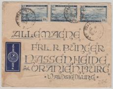 Algerien, 1948 nette MeF (10 Fr. Luftpost) auf Lupo- Brief nach Nassenheide