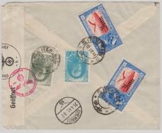Persien, 1941, nette MiF auf Lupo- Zensurbrief nach Chemnitz, via Moscau - Berlin