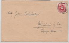 Nr.: 46 Oa als EF auf Fernbrief von Dittmannsdorf nach Glauchau! FA Dr. Jasch: echt und einwandfrei!Große Rarität der SBZ!