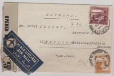 Palestina, 1948 (?) netter Lupo- Brief mit MiF und Zensur von Tel Aviv nach Berlin