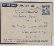 Palestina, ca. 1948, Lupo- Leichtbrief- GS von Tel Aviv nach New York