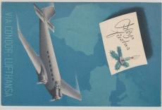 Uruguay, 1921, schöne Werbe- Lupo Karte von Montevideo nach Berlin