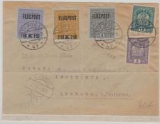 Österreich, netter Lupo- Brief von Wien nach Lemberg, mit 3 Lupo- Marken + 2 anderen in MiF