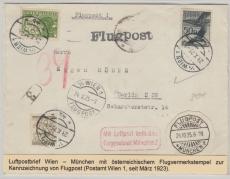 Österreich, 1925, Lupo- Brief von Wien nach Berlin, mit 50 gr. Lupo in MiF, aus Bedarf