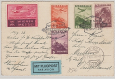 Österreich, 1936, Lupo- Karte von Wien nach Deuben bei Zeitz, mit Lupo- Ausgabe in MiF auf Postkarte; o Wiener Messe