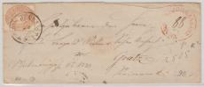 Österreich, ca. 1855, 15 Kr. EF, Brünn..., nach Gratz + guten rotem Zusatzstempel