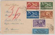 Schweiz, 1930, Flugpostbrief mit 15- 40 Rappen in MiF nach Berlin