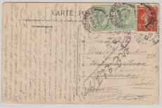 England / Frankreich, 1908, Länder MiF auf Karte