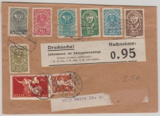 Österreich / Schweiz, 1919, nette Länder- MiF auf Drucksache in die Schweiz