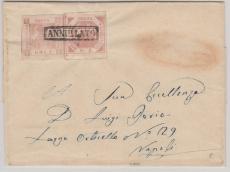 Italienische Staaten, Neapel, 1 + 2 Grana als MiF auf Brief nach Napoli